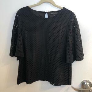Black bell sleeved dressy shirt